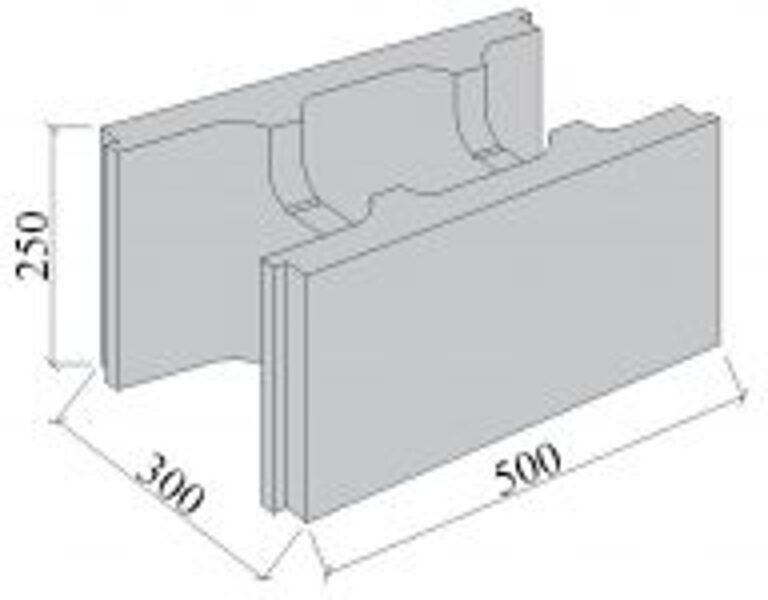 SEZONA 300  pamatu  (500x300x250) Tukšie pamatu bloki